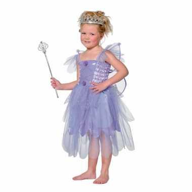 Carnavalsverkleedkleding elf paars kind