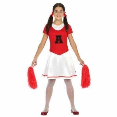 Cheerleader jurk/jurkje verkleed verkleedkleding meisjes kind