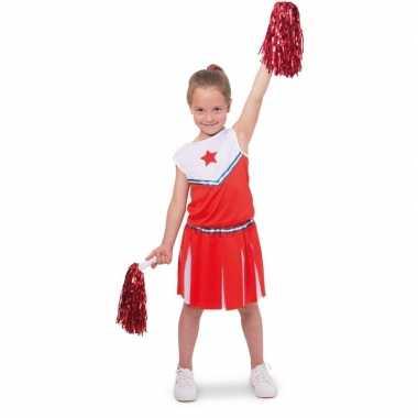 Cheerleader verkleedkledingje verkleed verkleedkleding meisjes kind