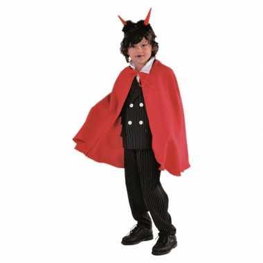Vampier verkleedkledings cape rood kind