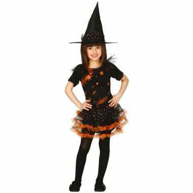 Halloween Verkleedkleding Kind.Verkleedkleding Halloween Heksenjurk Hoed Kind Oranje