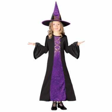 Halloween Verkleedkleding Kind.Verkleedkleding Halloween Heksenjurk Hoed Kind Paars