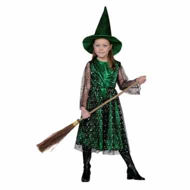 Verkleedkleding  Heksenjurk hoed kind