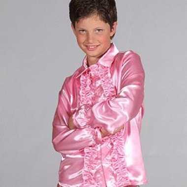 Verkleedkleding hippie rrouges blouse kind roze