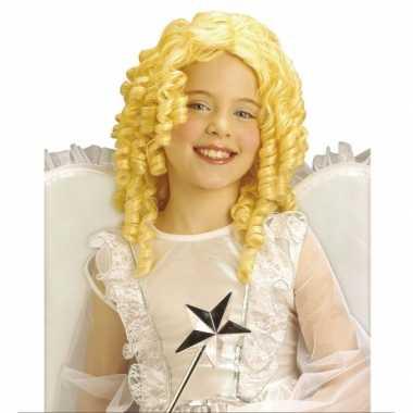 Verkleedkleding  Krullende kinderpruik blonde kleur