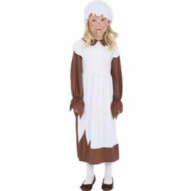 Verkleedkleding ouderwets jurkje meiden kind