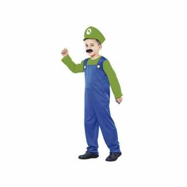 Voordelig groen Loodgieter verkleedkleding jongens kind