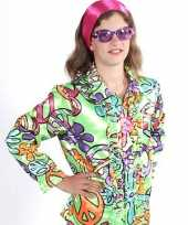 Verkleedkleding flower power blouse kind peace